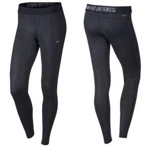 NIKE dri-fit printed dotted leggings